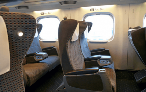 N700系新幹線のグリーン車の座席