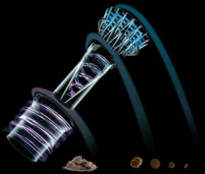 ダイソン社のサイクロン掃除機のメカニズム図(仕組み)