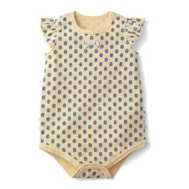 赤ちゃんかぶり式ボディスーツ