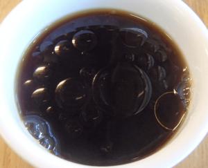 ココナッツオイルを入れたコーヒー