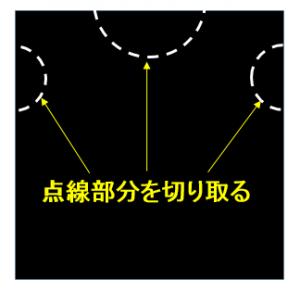 黒いビニール袋で男の子用ハロウィン衣装(ローブ)