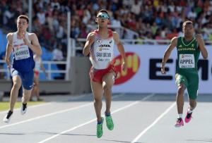 2015年ユース世界選手権100mと200mと優勝し2冠達成したサニブラウン・アブデル・ハキーム選手