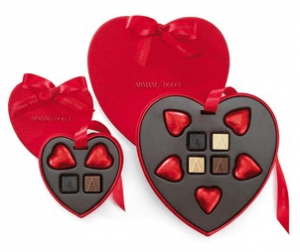 アルマーニドルチのチョコレート
