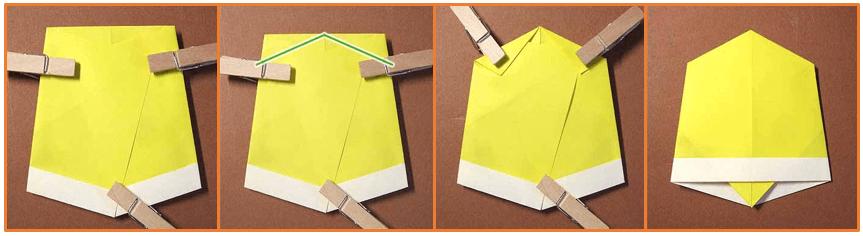 クリスマスの鈴の手作り折り紙の簡単な折り方3