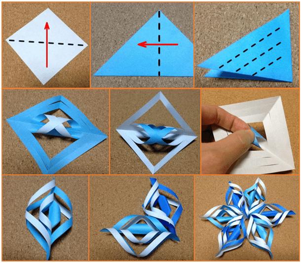 クリスマスオーナメントの手作り折り紙の簡単な折り方