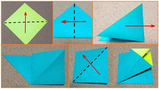 クリスマスツリーの手作り折り紙の簡単な折り方