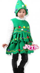 クリスマスパーティーにおすすめの子供用クリスマスツリーの衣装(仮装)