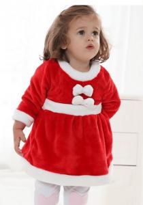 クリスマスパーティーにおすすめの子供用サンタクロースの衣装(仮装)女の子