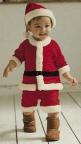 クリスマスパーティーにおすすめの子供用サンタクロースの衣装(仮装)男の子