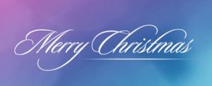 メリークリスマスの筆記体