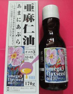 含むオメガ3脂肪酸を含む亜麻仁油
