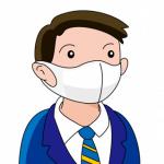 感染予防にマスクをしたサラリーマン