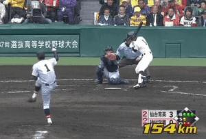 高校野球最速の154kmhの速球を投げたかのような佐藤世那