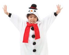 クリスマスパーティーにおすすめの子供用雪だるまの衣装