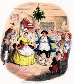 フレッドの家で開かれているクリスマスパーティーの光景