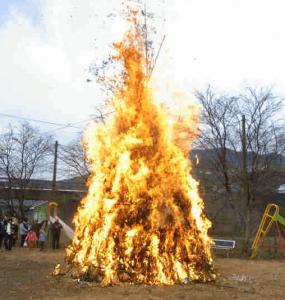 正月飾りを処分する方法のどんど焼き