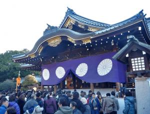 初詣東京おすすめ神社人気ランキング第3位の靖国神社の初詣の様子