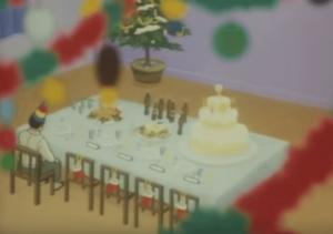 巨人の星星飛雄馬が準備したクリスマスパーティー会場