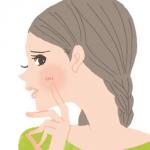 乾燥肌の女性のイラスト
